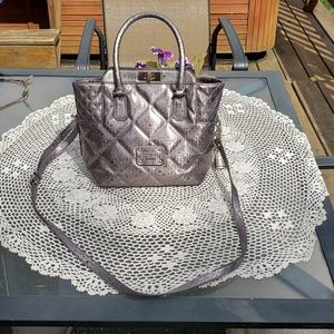Guess women's quilted grey purse